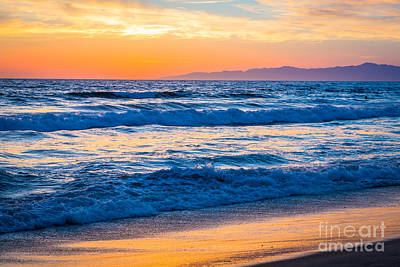 Manhattan Beach Sunset Art Print by Inge Johnsson