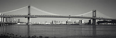 White River Scene Photograph - Manhattan Bridge Across The East River by Panoramic Images
