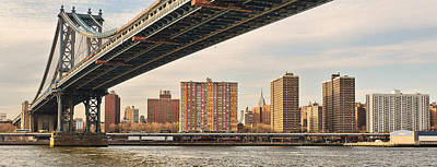 D700 Photograph - Manhattan Bridge And Empire State Building by Mitchell R Grosky