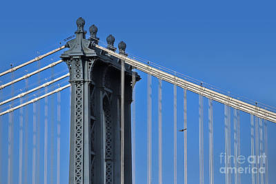 Photograph - Manhattan Bridge And The Fight Of The Eagle by Carlos Alkmin