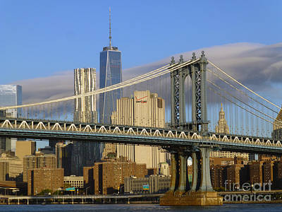 Photograph - Manhattan Bridge And The Nyc Skyline by Steven Spak