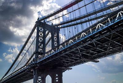 Manhattan Bridge Art Print by Chris Halford