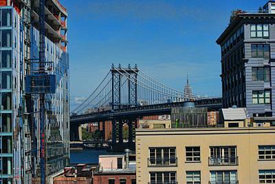 Photograph - Manhattan Bridge From Brooklyn by Paulette B Wright