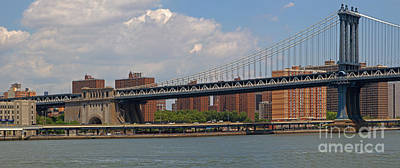 Photograph - Manhattan Bridge by Gene Berkenbile