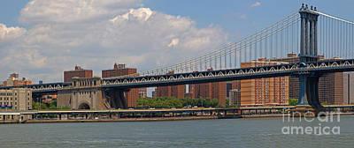 Photograph - Manhattan Bridge by Gene Berkenbile