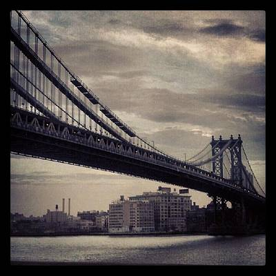 Manhattan Bridge In Ny Art Print