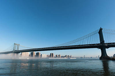 Manhattan Bridge In The Morning Mist Art Print
