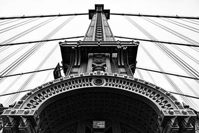 Photograph - Manhattan Bridge Ironwork - New York by Gary Heller