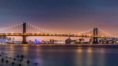 Photograph - Manhattan Bridge by Mihai Andritoiu