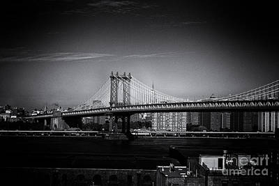 Manhattan Bridge New York City Art Print by Sabine Jacobs