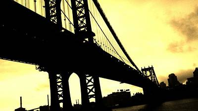 Photograph - Manhattan Bridge by Paulo Guimaraes