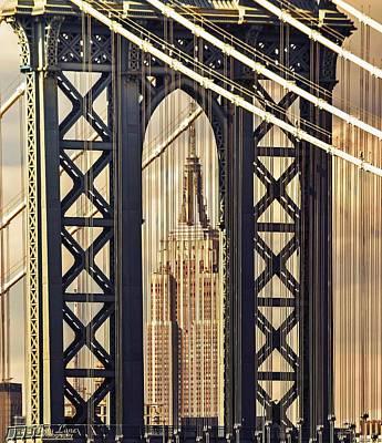 Photograph - Manhattan Bridge Plus by Jody Lane