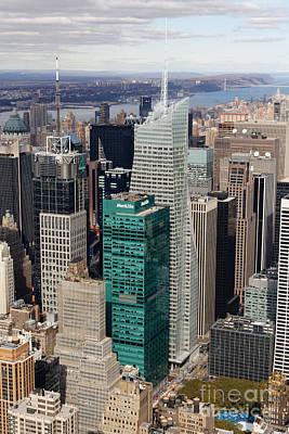 Manhattan Bryant Park Aerial Art Print by Jannis Werner