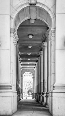 Cement Walkway Photograph - Manhattan Building by Alexander Mendoza