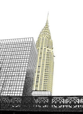 Photograph - Manhattan - Chrysler Building by Richard Reeve
