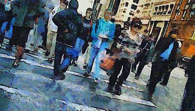 Nyc Mixed Media - Manhattan Crosswalk by Dan Sproul