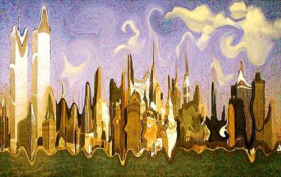 Painting - New York City 2200 - Modern Art by Art America Gallery Peter Potter