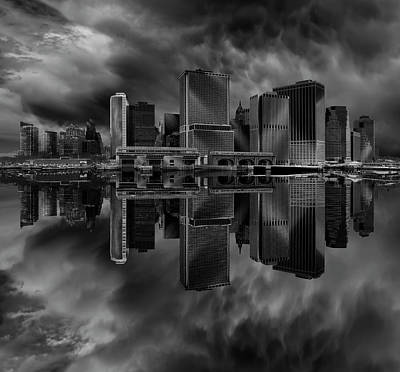 Water Reflections Photograph - Manhattan by Martin Zalba