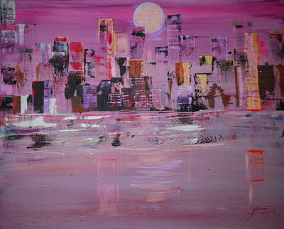 Painting - Manhattan Moonshine by Jack Diamond