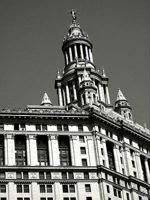 Photograph - Manhattan Municipal Building Tower by Liza Dey