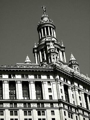 Photograph - Manhattan Municipal Building Tower by Liza Dey
