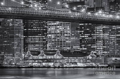 Photograph - Manhattan Night Skyline Vi by Clarence Holmes
