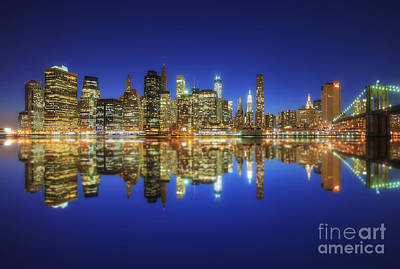 Photograph - Manhattan Nite Lites Nyc 2.0 by Yhun Suarez