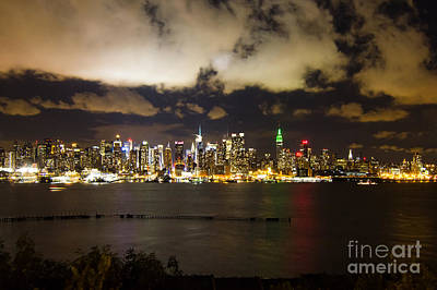 New York City Photograph - Clouds Over Midtown Manhattan At Night by Ellie Teramoto
