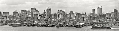 Manhattan Panorama Circa 1908 Art Print by Jon Neidert