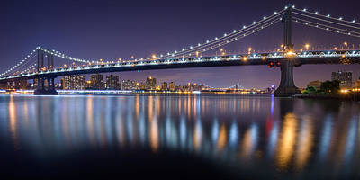 Photograph - Manhattan Reflections  by Mark Robert Rogers