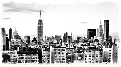 Manhattan  Art Print by Scott Snizek
