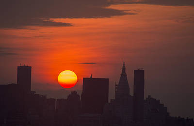 Photograph - Manhattan Silhouetted By Sunrise by Alina  Oswald