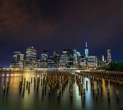 Manhattan Skyline - New York - Usa Art Print