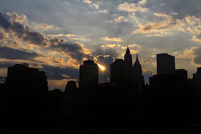 Manhattan Skyline At Sunset Original by Eduard Moldoveanu