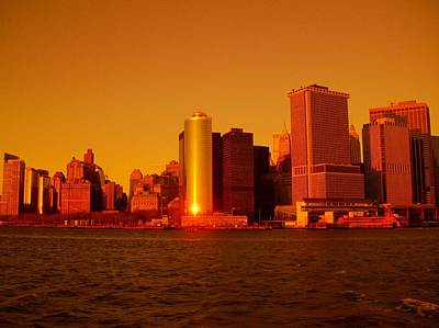 Manhattan Skyline At Sunset Art Print