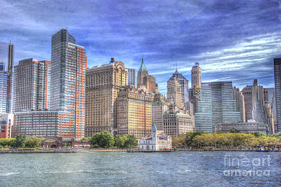 Photograph - Manhattan Skyline From Hudson River by Juli Scalzi
