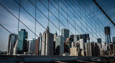 Print featuring the photograph Manhattan Skyline by James Howe