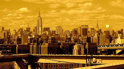 Photograph - Manhattan Skyline by Monique's Fine Art