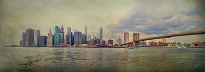 Photograph - Manhattan Skyline by Paulette B Wright
