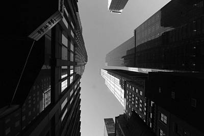 Art Print featuring the photograph Manhattan Skyscrapers by Linda Edgecomb