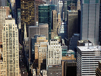 Photograph - Manhattan Skyscrapers  by New York