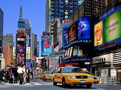 Photograph - Manhattan - Times Square by Carlos Alkmin