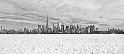 Water Droplets Sharon Johnstone - Manhattan under the snow by PatriZio M Busnel