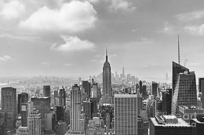 Manhattan View Bw Art Print by Yoko Maria