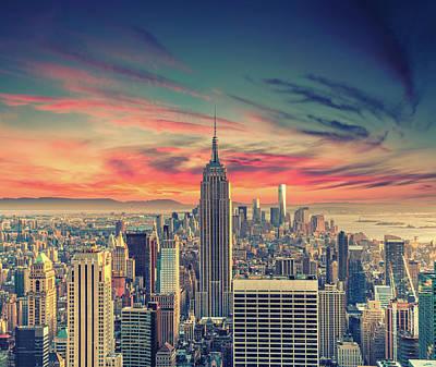 Photograph - Manhattan by Zsolt Hlinka