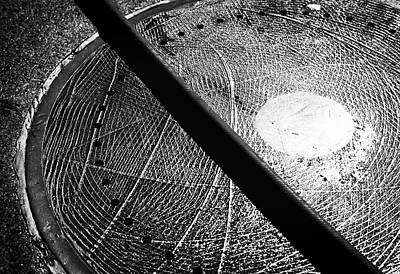 Photograph - Manhole Solar System Bw by Dave Beckerman
