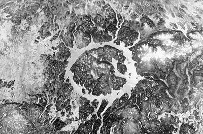 Abstract Map Photograph - Manicouagan Crater by Anonymous
