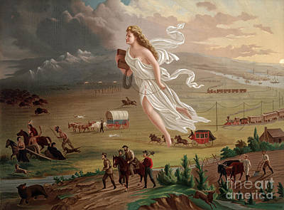 Manifest Destiny 1873 Art Print by Photo Researchers