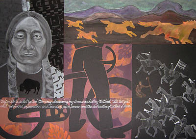 Printmaking Mixed Media - Manifest Destiny by Robin Holder