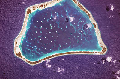 Atoll Photograph - Manihiki Atoll by Nasa
